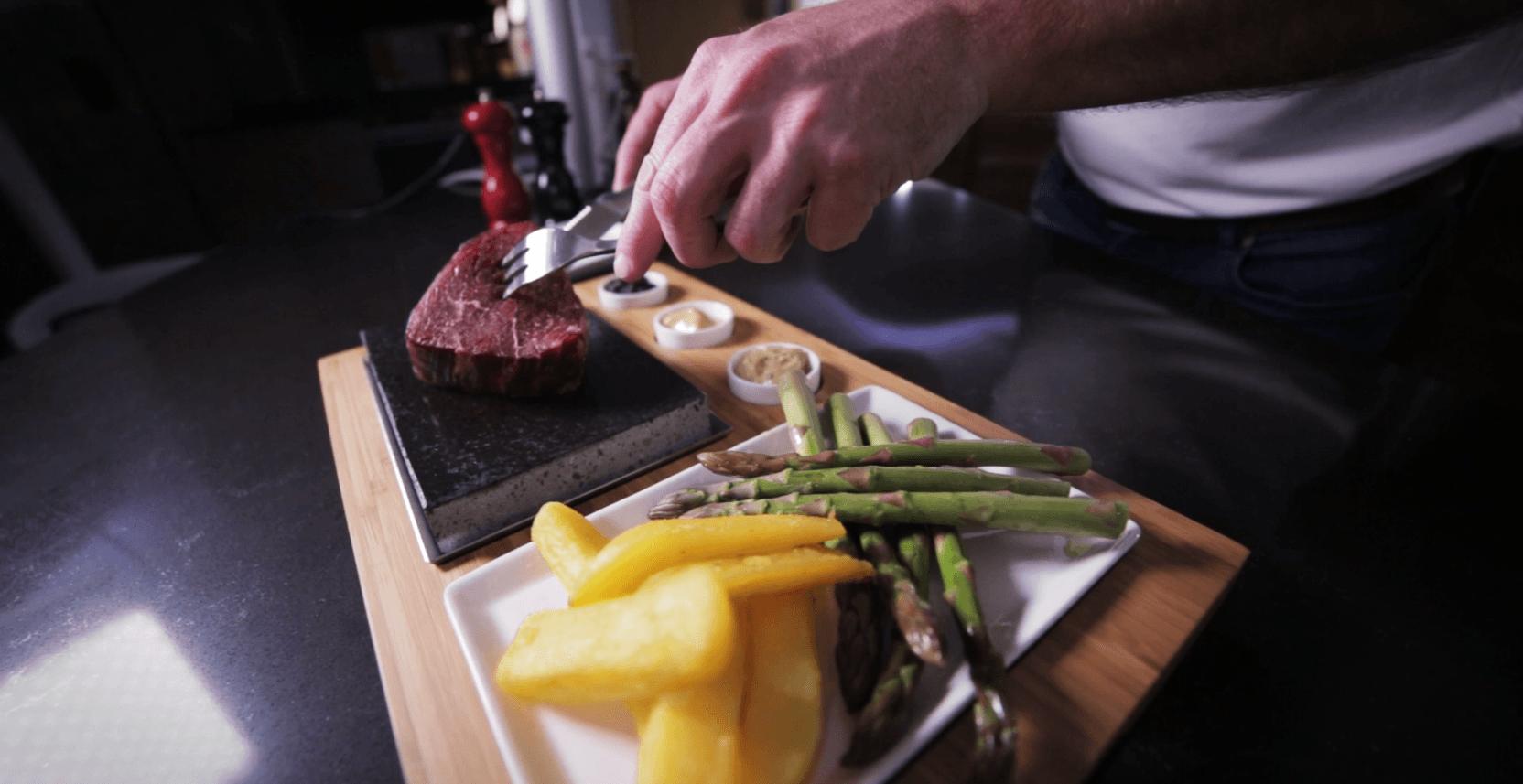 SteakStones Fillet Steak on the Stone