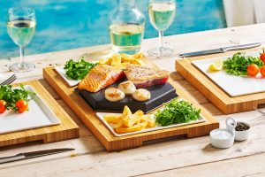 Tuna, Salmon & Scallops
